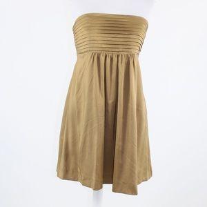 Goldenrod BANANA REPUBLIC strapless dress 8